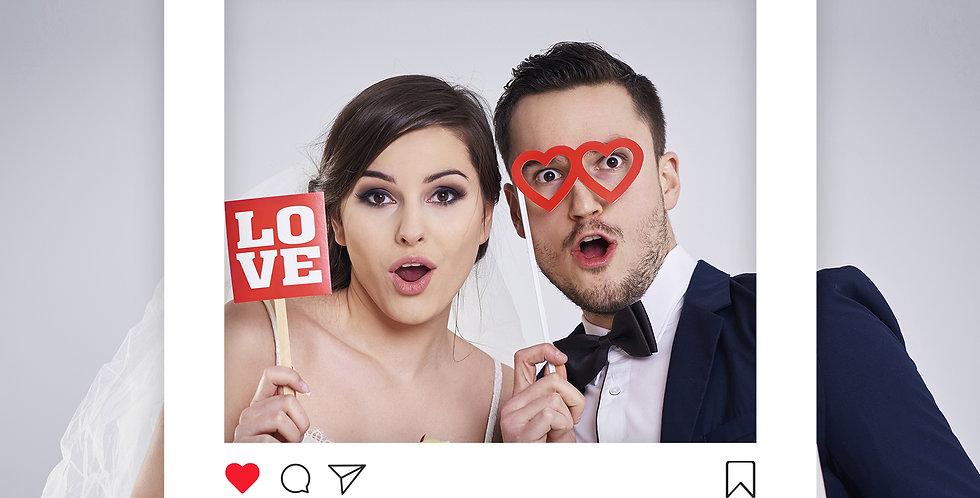 Esküvői/Party Fotó keret M-es méret