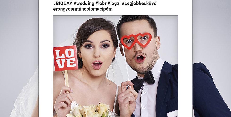 Esküvői/Party Fotó keret L-es méret