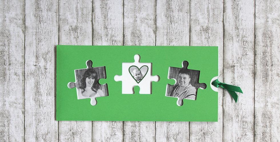 Esküvői meghívó - puzzle