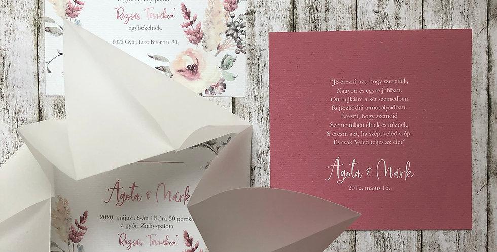 Esküvői meghívó - Pausz origami tasakban