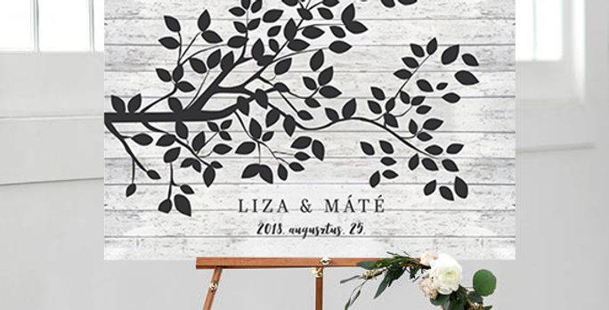 Kreatív emlékkönyv - Esküvői tábla S-es méret (Love design)