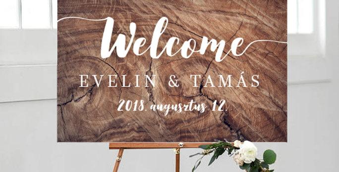 Esküvői Welcome tábla M-es méret