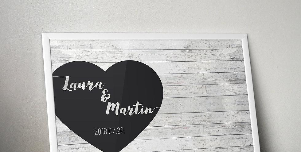 Alternatív vendégkönyv - Heart (plakát)