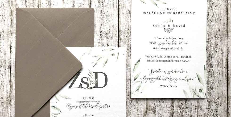 Esküvői meghívó - Oliva