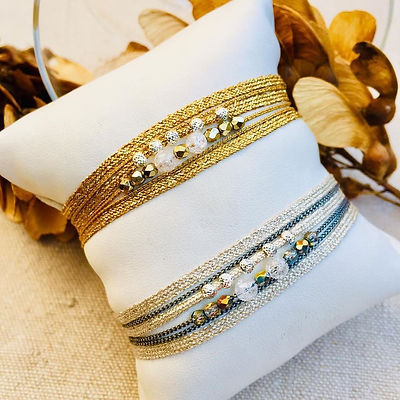 bracelet 6 brins mix line cristal 135.jp