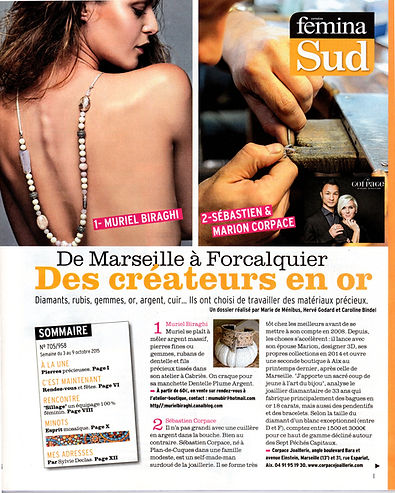 Article Presse Femina La Provence 2015