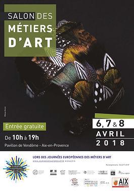 Affiche salon des metiers d'art Aix en P