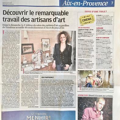 Article La Provence 2019