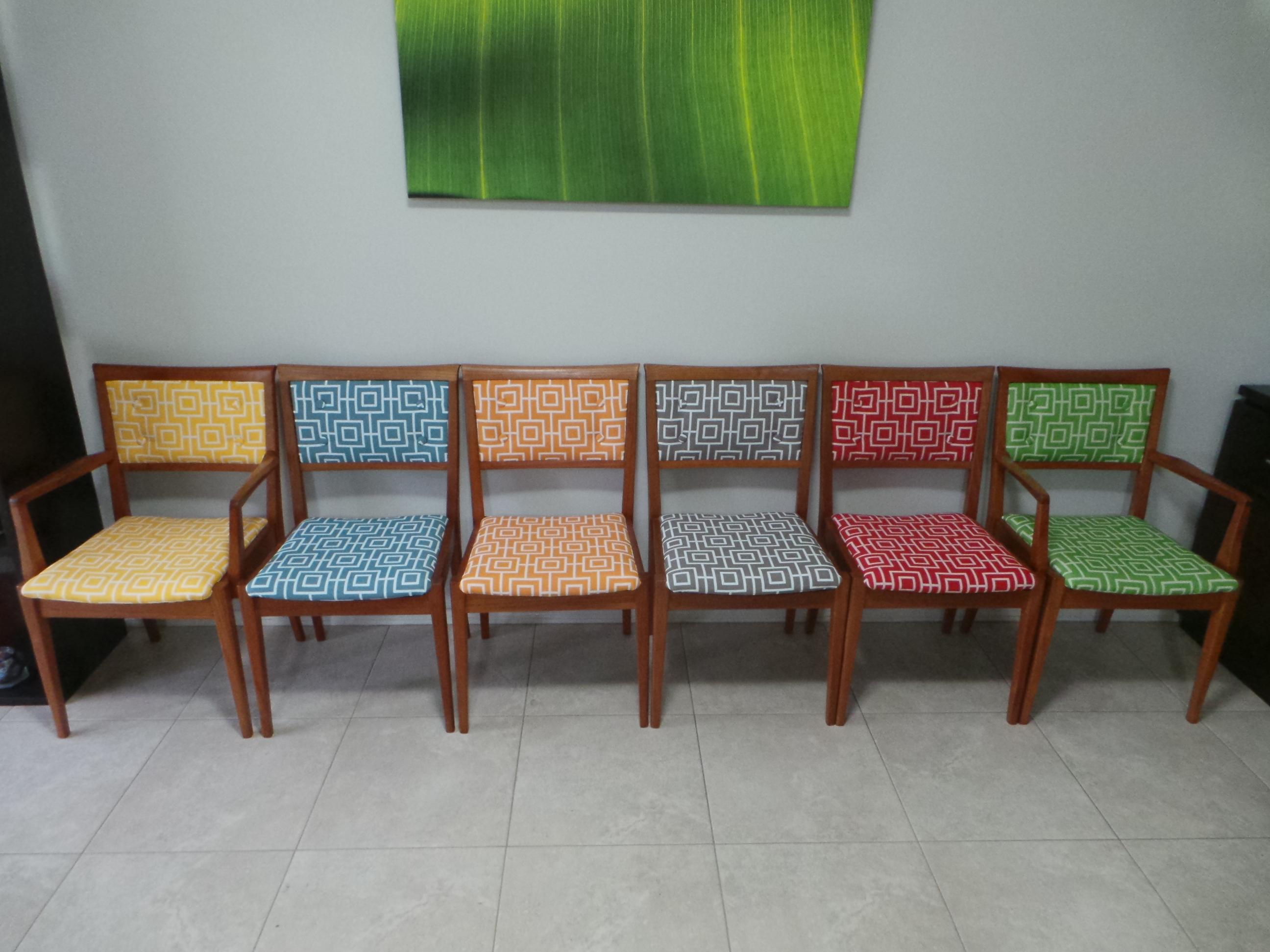 Parker chairs in Bondi fabric