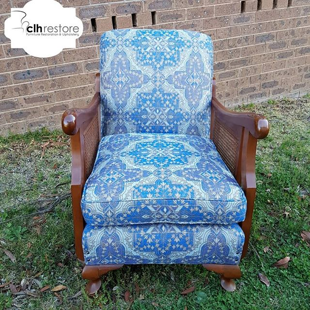 60 year old chair re-upholstered in #cat
