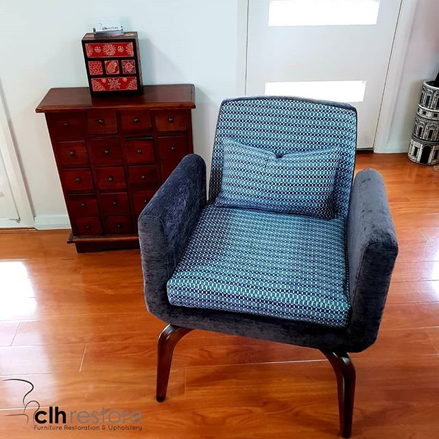 We restored and reupholstered this #jorg