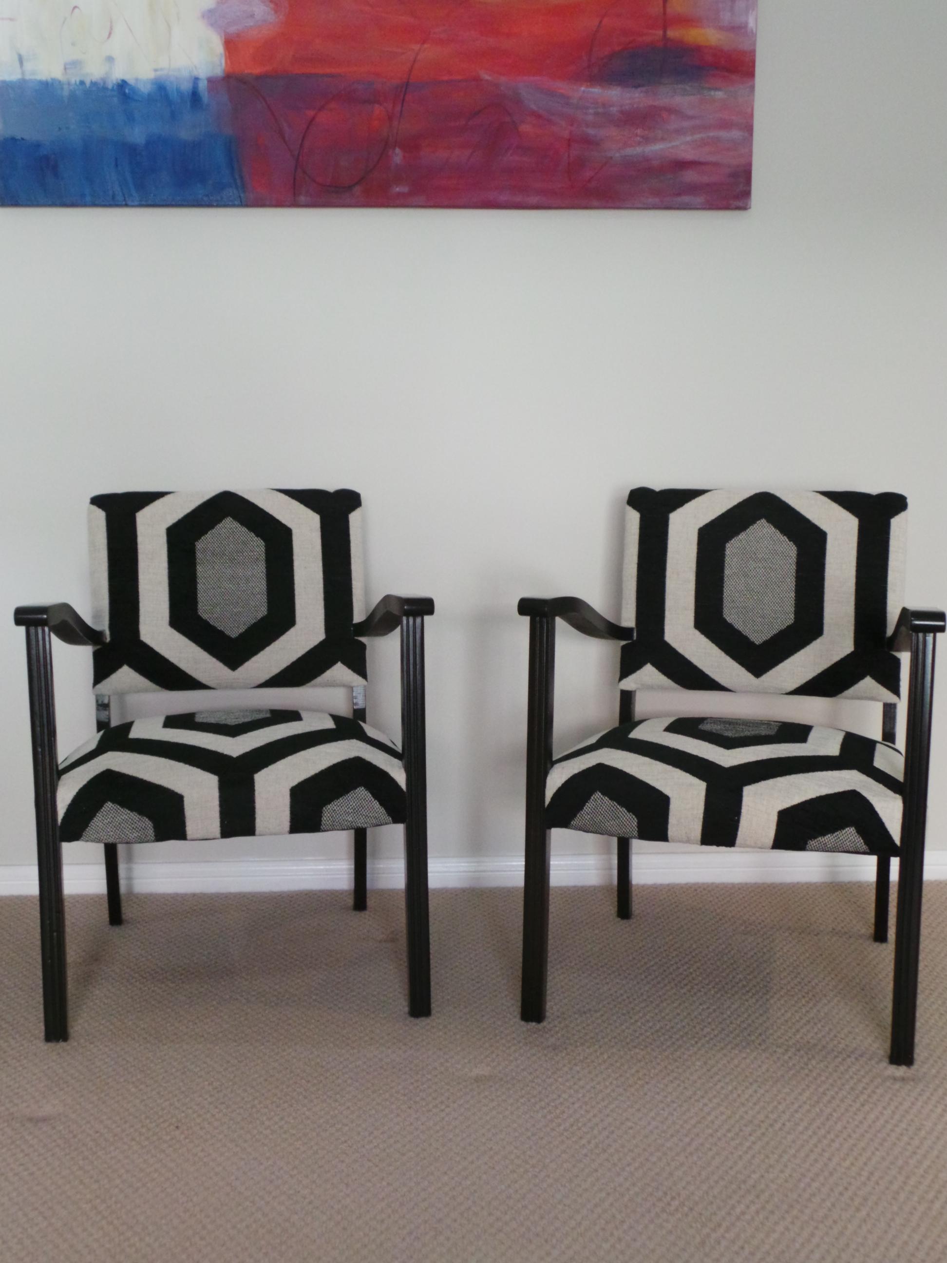 Art deco bridge chairs