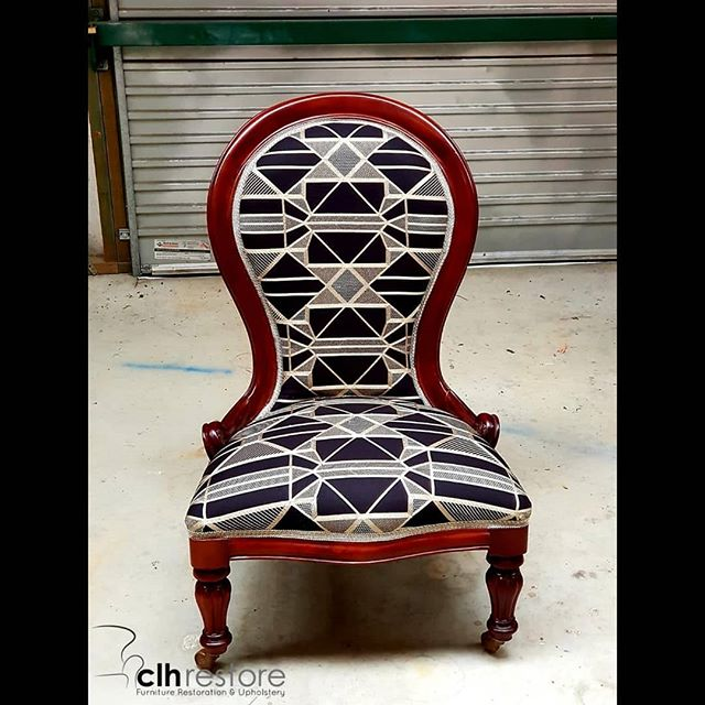 We recovered this grandmother chair in #