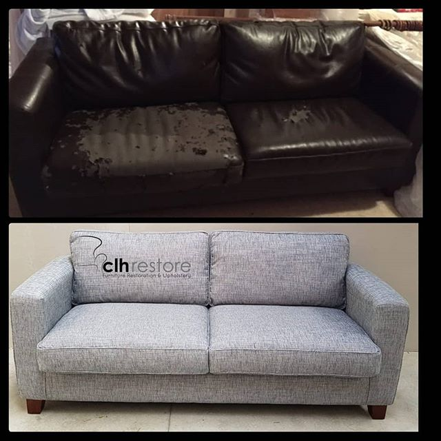 We recovered this worn out sofa using _z
