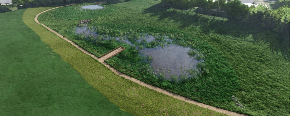 Constructed wetlands -looking southeast