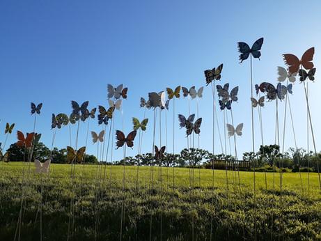 Lifesize Bipolar Butterfly garden art