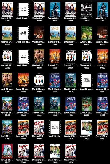 cinéma chemillé, cinéma le club chemillé, cinema 49120, films, calendrier, horaires, séances