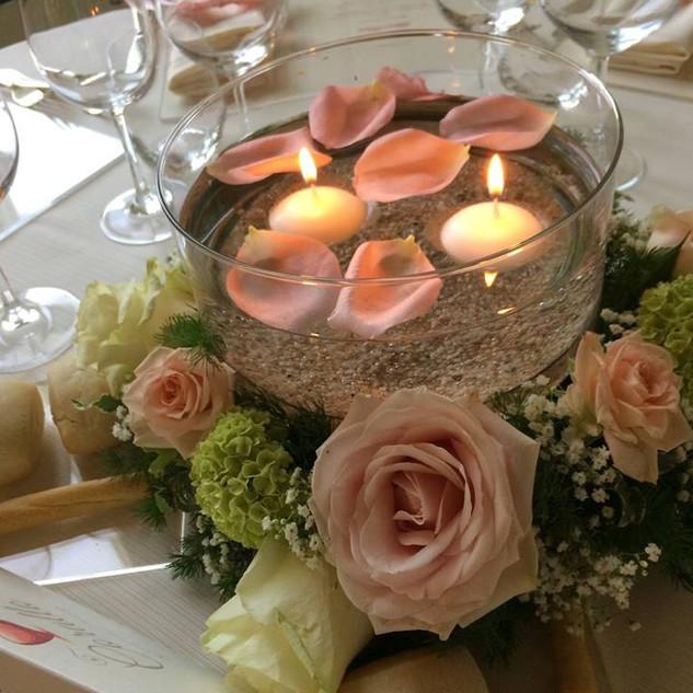 Composizione, vetro e candele
