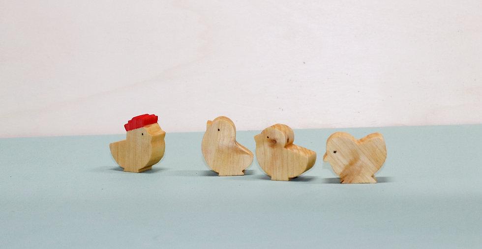 Freche Hühnerbande Tom, Tim, Ted und Fred
