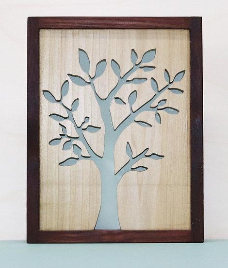 Bild Frühlingsbaum mit Rahmen