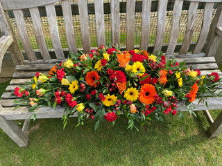 Orange, red and yellow 4ft DES