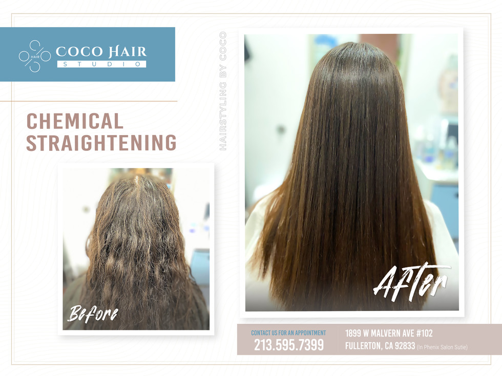 Before & After   Chemical Straightening