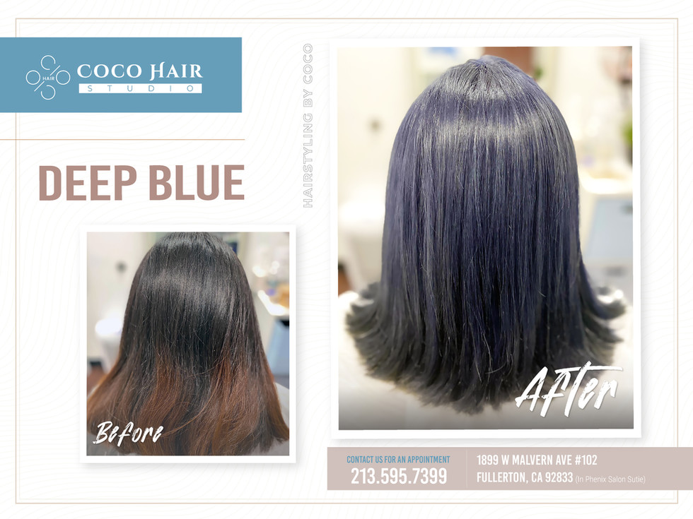 Before & After | Deep Blue Color