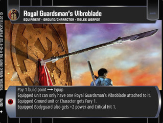Royal Guardsman's Vibroblade | SWTCG Card of the Week