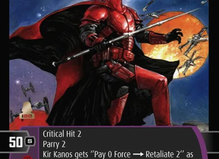 Kir Kanos x3! | Bonus SWTCG Card of the Week