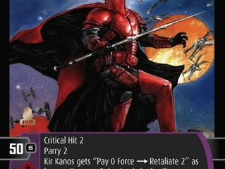 Kir Kanos x3! | Bonus SWTCG Card of the Week