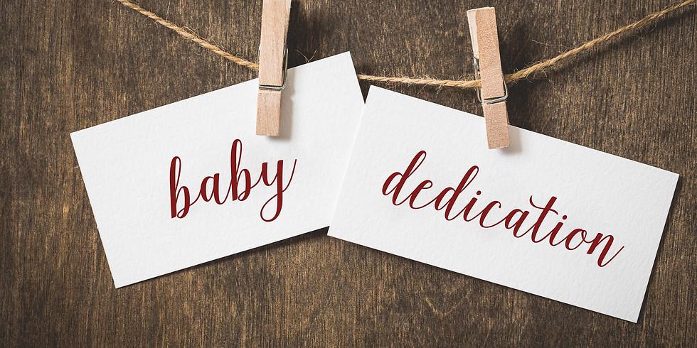 Baby Dedication September 23rd
