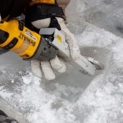Орезьба по льду - выборка фрезам