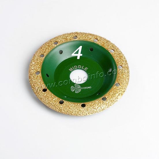 Чашка шлифовальная 125мм Grand Trio-Diamond скругленная - шаг4 Midle