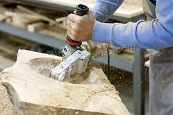 Выборка углубления в массиве дуба, powercarving, woodtool
