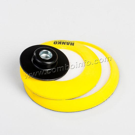 "Гибкая опорная тарелка с липучкой ""3 в 1"" HANKO, диаметр 75+125+150 мм"