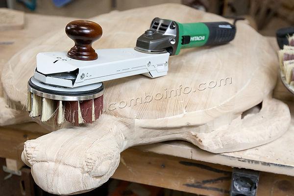 шлифование дерева после чпу