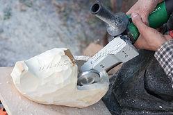 Изготовление деревянной обуви, гриндер Комбо по дереву