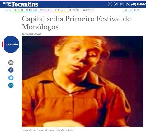 Jornal do Tocantins - Dona Passa