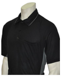 Side Panel Umpire Shirt - BLACK