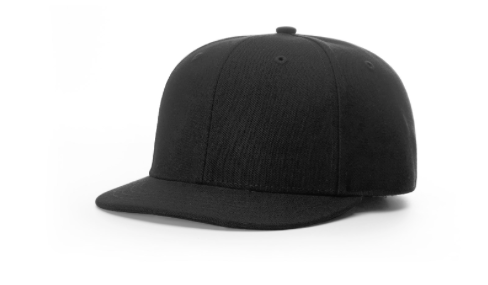 Fitted Plate Hat - BLACK