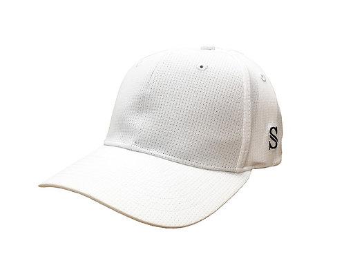 White Performance Flex Fit Hat