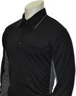 Long Sleeve Side Panel Umpire Shirt - BLACK