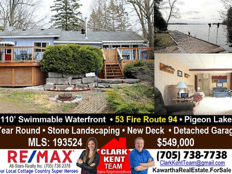 53 Fire Route 94 Pigeon Lake 4 Season Waterfront
