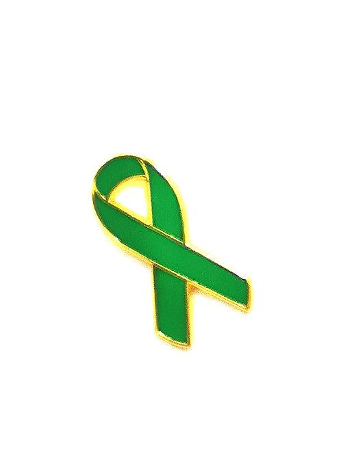 Green ribbon pin badges