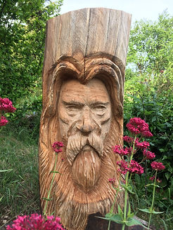 wood spirit chainsaw carving