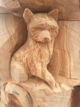renard sculpté