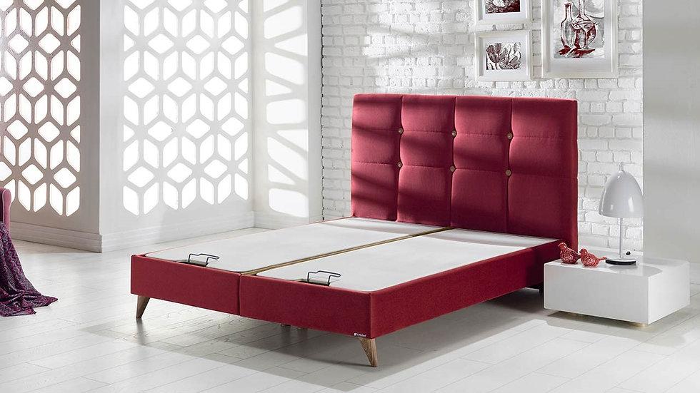 Lima Walnut Storage Bed 160x200cm