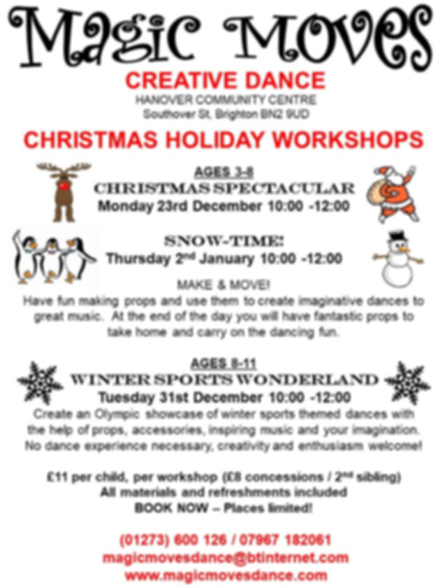 Magic Moves Christmas Holiday Workshops