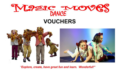 Magic Moves Dance Gift Voucher with Pom Pom