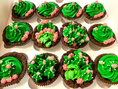 Cactus Themed Cupcakes